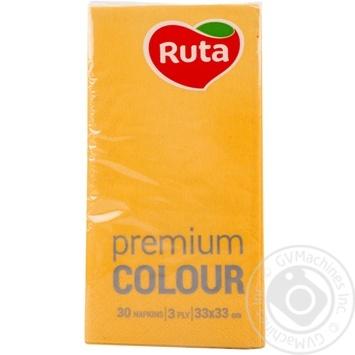 Napkins Ruta Premium yellow paper 30pcs