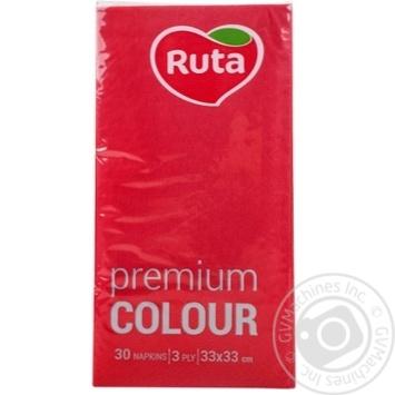 Napkins Ruta Premium red paper 30pcs