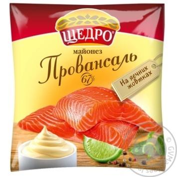Майонез Щедро провансаль 67% 380г - купить, цены на Novus - фото 1