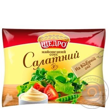 Майонезный соус Щедро Салатный 30% 190г