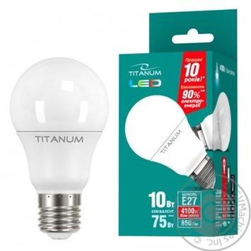 Лампа светодиодная Titanum LED A60 10W E27 4100K
