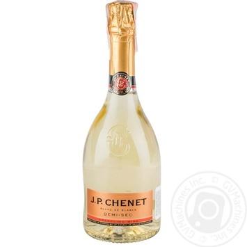 Вино белое Жан Поль Шене Деми-Сэк виноградное натуральное игристое полусухое 11% стеклянная бутылка 750мл Франция - купить, цены на Таврия В - фото 1