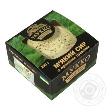 Сир м'який Мукко з пряними травами 250г - купити, ціни на CітіМаркет - фото 2