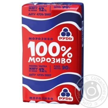 Мороженое Рудь брикет 100% 90г - купить, цены на Фуршет - фото 1