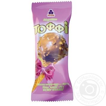 Мороженое Рудь Тоффи рожок 70г