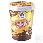 Мороженое Рудь Шоколадный грильяж с кусочками миндаля и глазурью 500г