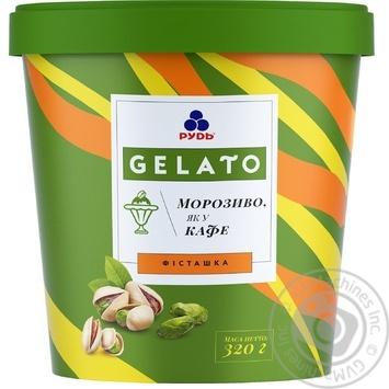 Мороженое Рудь Gelato Фисташка сливочное в ведре 320г