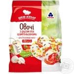 Овочі Рудь з рисом і шампіньйонами швидкозаморожені 400г - купити, ціни на Ашан - фото 1