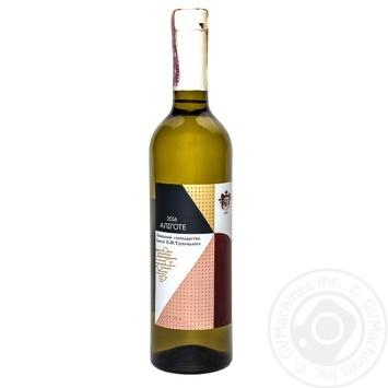 Вино белое Винодельческое хозяйство Князя П.Н.Трубецкаго Алиготе натуральное виноградное столовое сортовое сухое 12% 750мл - купить, цены на Novus - фото 2