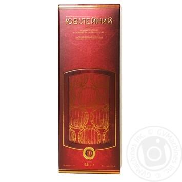Konʹyak Ukrayiny Shustov Yuvileynyy vintage 43% 0,5l - buy, prices for Novus - image 4