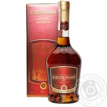 Konʹyak Ukrayiny Shustov Yuvileynyy vintage 43% 0,5l - buy, prices for Novus - image 1