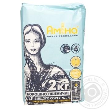 Мука Амина высший сорт 2кг - купить, цены на Метро - фото 1