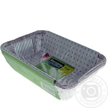 Контейнер Ашан из пищевой алюминиевой фольги 5шт - купить, цены на Ашан - фото 4
