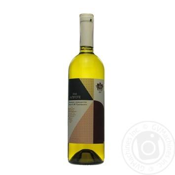Вино белое Винодельческое хозяйство Князя П.Н.Трубецкаго Алиготе натуральное виноградное столовое сортовое сухое 12% 750мл - купить, цены на МегаМаркет - фото 1