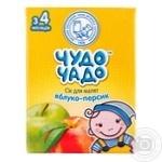 Сок Чудо-Чадо яблочно-персиковый с мякотью с 3-ох месяцев 200мл