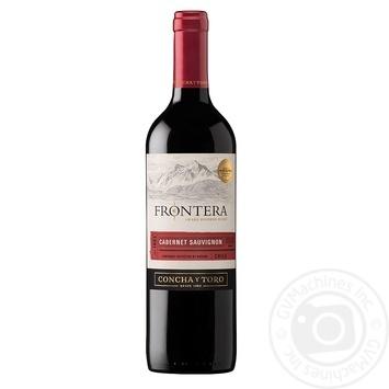 Wine cabernet sauvignon Frontera red semidry 13% 750ml glass bottle Central valley Chili