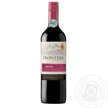 Wine Frontera red sweet 9.5% 750ml glass bottle Central valley Chili