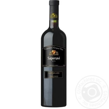 CGW Tbiliso Saperavi red dry wine 11% 0,75l