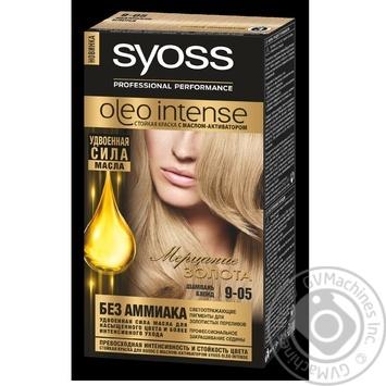 Фарба для волосся Syoss Oleo Intense 9-05 Шампань Блонд без аміаку