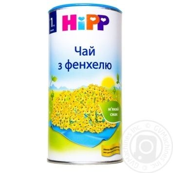 Чай дитячий HiPP трав'яний з фенхелю з 1 тижня 200г - купити, ціни на CітіМаркет - фото 1