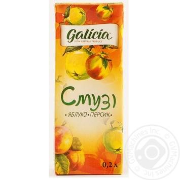 Смузі Galicia Яблуко-персик 0,2л - купити, ціни на Ашан - фото 2