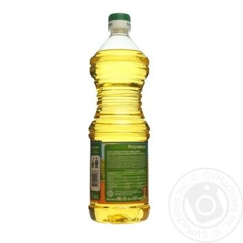 Rozumnytsya refined sunflower oil 870ml - buy, prices for Novus - image 2