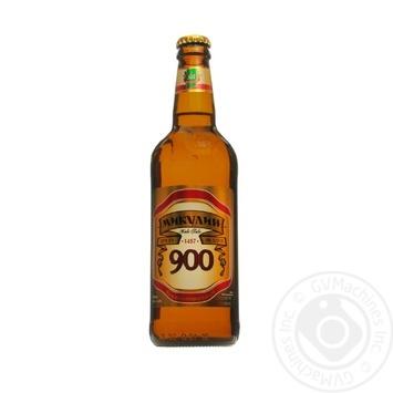 Скидка на Пиво Микулинецкое Микулин 900 живое светлое непастеризованное 4.5%об. 500мл