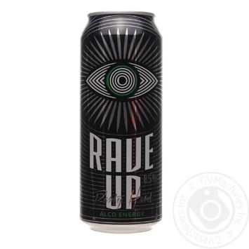Сидр Rave Up Let's Go Alco Energy солодкий 8,5% 0,5л з/б