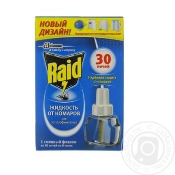 Жидкость от комаров Raid для электрофумигаторов 30 ночей 220мл