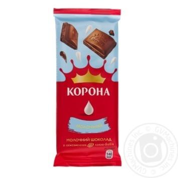 Шоколад Корона молочний 85г - купити, ціни на Ашан - фото 1