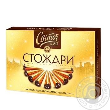 Конфеты Свиточ Стожары классические в темном шоколаде 232г