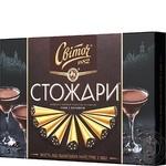 Конфеты Свиточ Стожары в черном шоколаде со вкусом кофе с коньяком 232г