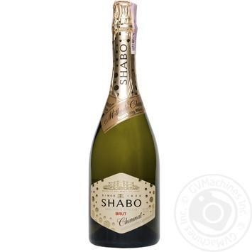 Вино игристое Shabo Charmat Brut белое сухое 10.5-13.5% 0.75л - купить, цены на Novus - фото 1