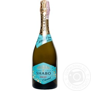 Shabo Charmat white semi-dry sparkling wine 10,5-13,5% 0.75l - buy, prices for EKO Market - photo 1