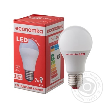 Лампа светодиодная Economka LED A60 7W E27 2800K - купить, цены на Таврия В - фото 1