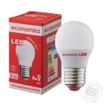 Лампа светодиодная Economka LED G45 6W E27 2800K - купить, цены на Ашан - фото 1