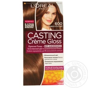 Краска-уход для волос L'Oreal Casting Creme Gloss 600 Темно-русый без аммиака