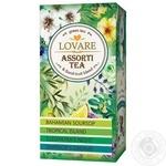 Чай Lovare зеленый ассорти в пакетиках 4 вида *6шт*2г