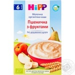 Milk wheat porridge HiPP with fruits for 6+ months babies 250g