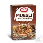 Мюслі АХА хрусткі медові з шоколадом та горіхами 375г