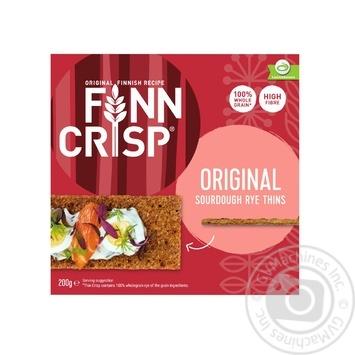 Сухарики Finn Crisp Original ржаные 200г - купить, цены на Метро - фото 1