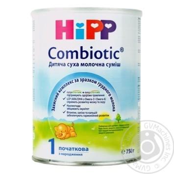 Суміш суха молочна Hipp Combiotiс 1 початкова 750г