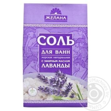 Сіль для ванн Морська натуральна Лаванда 500г х28 - купити, ціни на МегаМаркет - фото 1