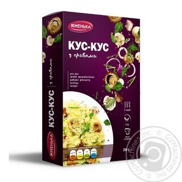 Кус-кус Жменька с грибами 200г - купить, цены на Фуршет - фото 1