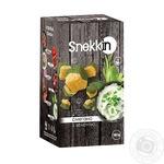 Сухарики пшенично-житні зі смаком сметана з зеленню Snekkin 100г