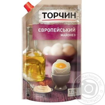 Майонез ТОРЧИН® Европейский 580г - купить, цены на Метро - фото 1