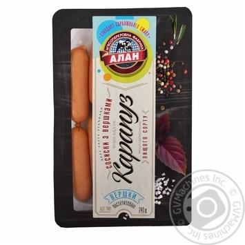 Сосиски Алан Карапуз со сливками в/с 240г