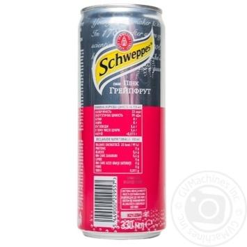 Напиток Schweppes Pink Grapefruit сильногазированный сокосодержащий 0,33л - купить, цены на Ашан - фото 2