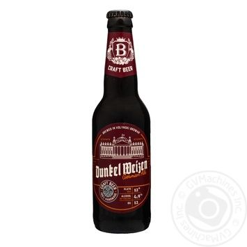 Пиво темне нефільтроване Волинський Бровар Dunkel Weizen 4,9 % 0,35л скл/пл