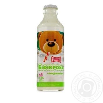 Напій кисломолочний Злагода Біфікроха 2,5% 200г